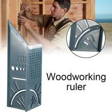 Neue Kunststoff Holzbearbeitung 3D Winkel Lineal Holzhandwerk Glasritzrades T-typ Multifunktionale 90 Grad Lineal Winkel Messen Werkzeug