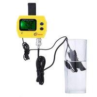 PH Meter Digital Water Tester Acidimeter With Temperature Sensor Probes PH Thermometer US EU Plug For Aquarium Pool Water Test