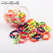 50 Pcs/lot Candy Color Elastic Hair Rubber Band for Girls Mini Rope Ring Scrunchy Ponytail Gum Kid Accessories