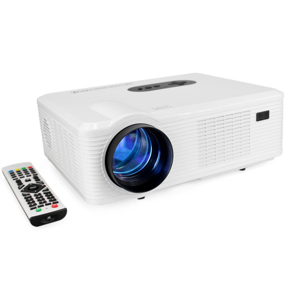 Coolux CL720 LCD Projector HD 1080P 3000 Lumens 1280 X 800 Pixels With Analog TV Interface Multi-Language For Home Entertainment
