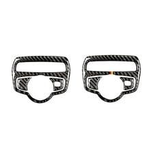 For Mercedes Benz C Class W205 C180 C200 C300 GLC260 3pcs Carbon Fiber Car Headlight Switch Frame Cover