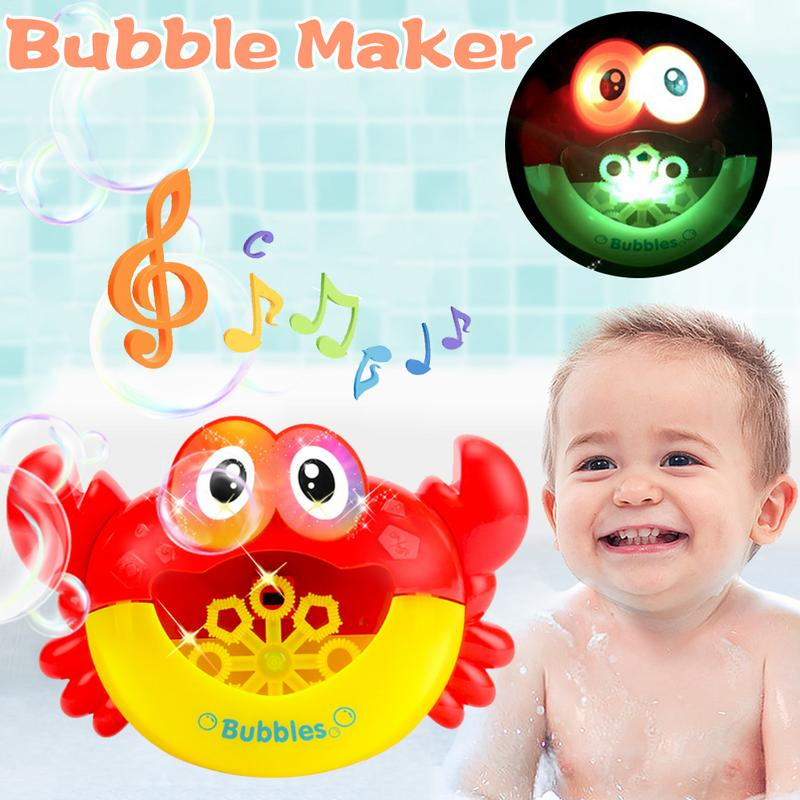 Bubble Crab Bath Toys Bathroom Toys Baby Bath Toys For Swimming Baby Bath Toys Bubble Crabs Funny Bath Music Bubble Maker