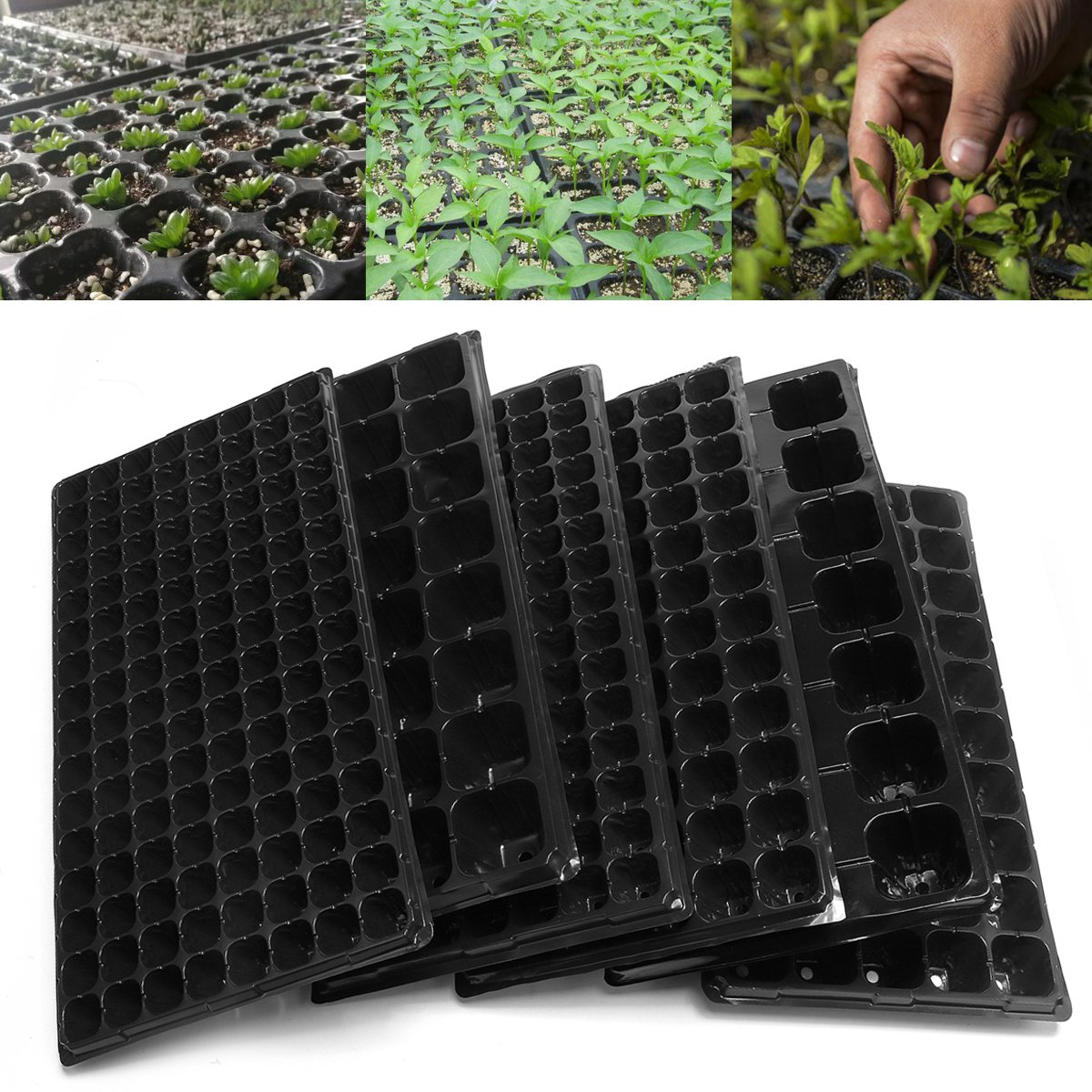 10Pcs CellS Seedling Starter Tray Extra Strength Seed Germination Plant Flower Pots Nursery Grow Box Propagation For Garden