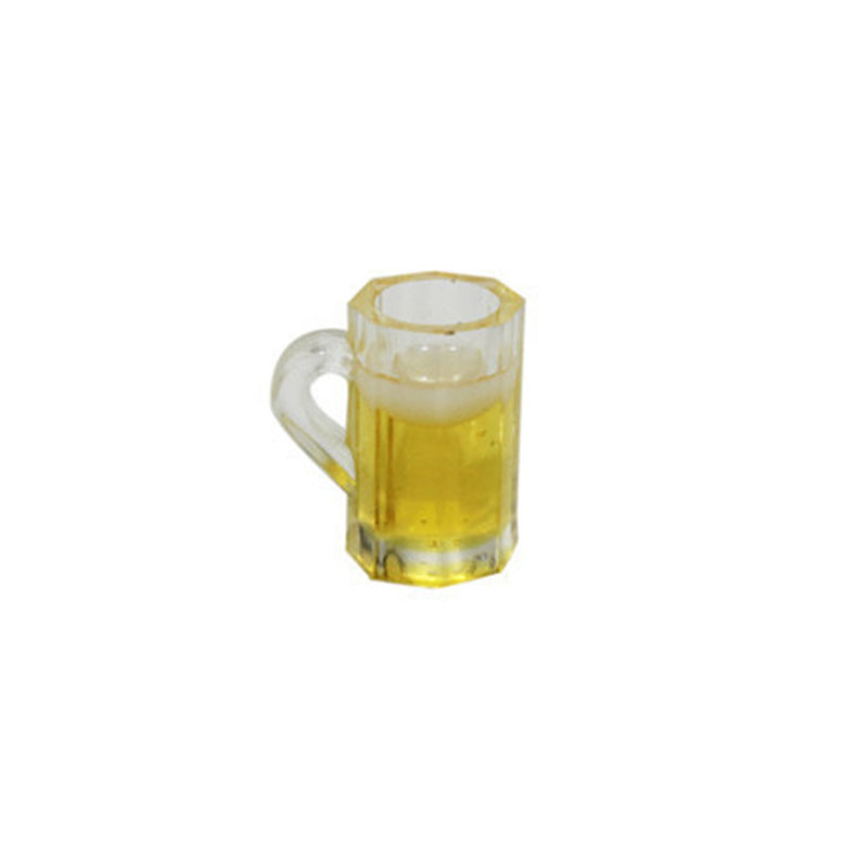 1 Pc Beer Glass Model 1:6 Mini Dollhouse Miniature Drink Of Beer Model Pretend Play Liquid Toy