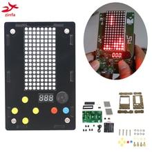 Electronic DIY Kit 8x16 Dot matrix game machine for Tetris/Snake/Shot/Racing Diy