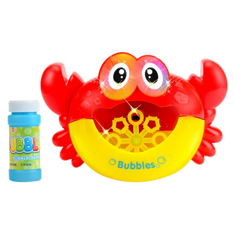 Kids Bath Crab Shaped Bubble Maker With Baby Songs Automatic Cartoon Kids Children Funny Joy Bubble Electric Bath Shower Toy