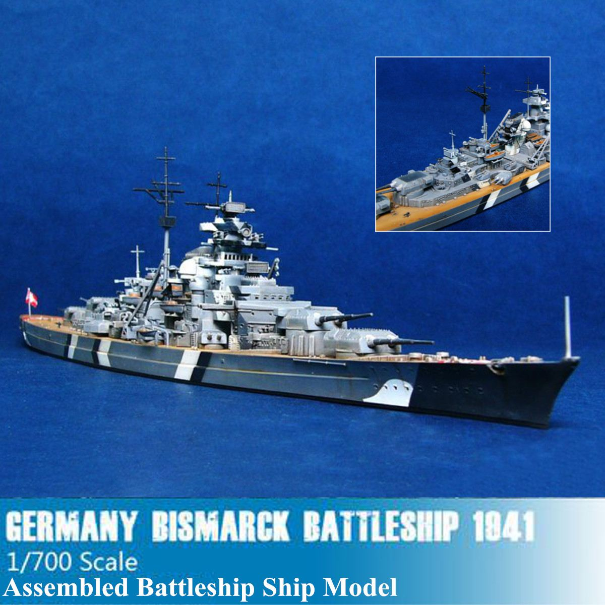 1/700 Scale The World War Ii Germany Navy Battleship Kms Bismarck Battleship Ship Model Kit Ship Toy Manual Model Assembly Toy