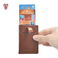 men's credit card holder genuine leather id card business holder card wallet