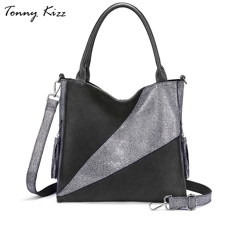 Tonny Kizz genuine leather shouder bags for women handbags designer female crossbody bags with long strap patchwork tote bagsTonny Kizz genuine leather shouder bags for women handbags designer female crossbody bags with long strap patchwork tote bags