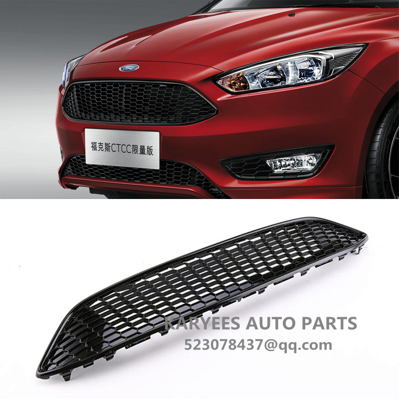 FOR FORD FOCUS MK3 RED SPORT HONEYCOMB MESH FRONT BUMPER CENTRE GRILLE PANEL