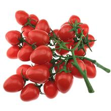 Gresorth 2 Pack Artificial Red Cherry Tomatoes Decoration Fake Tomato Home Kitchen Party Christmas Display