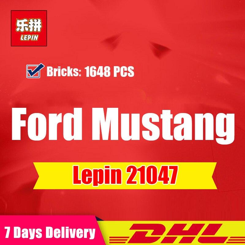 En stock LEPIN 21047 Créateur D'experts Ford Mustang 1967 GT500 Compatible Legoing 10265 Ensemble blocs de construction Briques Jouets Cadeaux