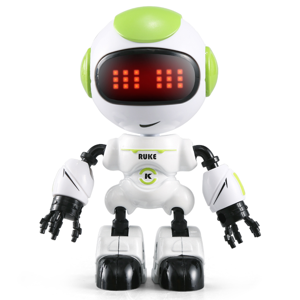 Jjrc R8 Press Sensing Led Eyes Rc Robot Smart Voice Diy Body Gesture Model Toy For Child Gift(China)