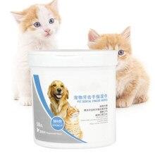 Útil 50 pces pet dente dedo limpa a boca com tártaro animal de estimação saudável suprimentos de cuidados orais para cães gatos cuidados de saúde