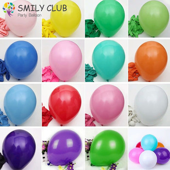 100pcs 10 inch 2.2 g Thickening Latex Balloon Matte Balloon Red Blue Yellow Multicolor Balloon Birthday Party Wedding Supplies