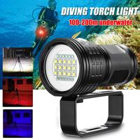 LED Diving Flashlight Underwater 100m Photography Video Tactical Flashlight Waterproof LED Rechargeable flash light Torch