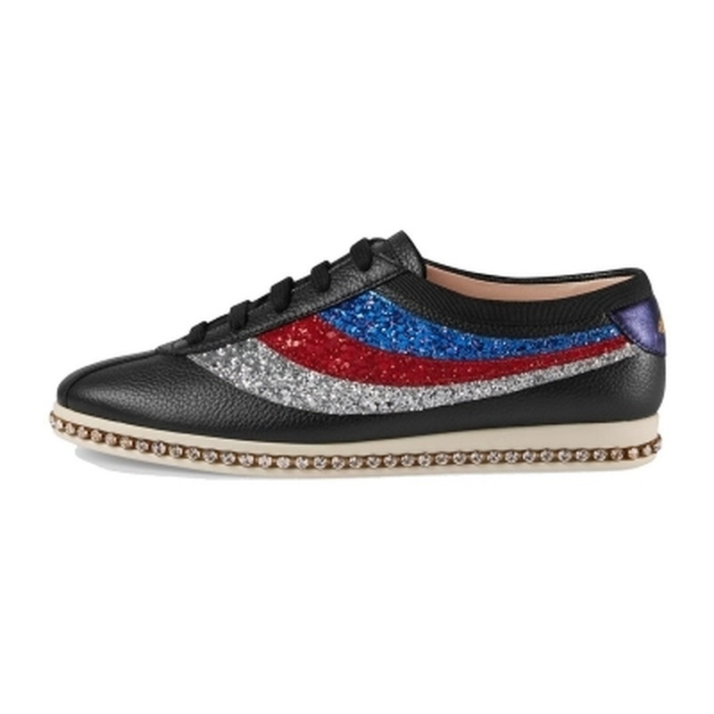 Luxury Leather Stripe Flat Bottom White Shoes Female Crystal Embroidery Genuine Leather Lace Casual Shoes Platform SneakersLuxury Leather Stripe Flat Bottom White Shoes Female Crystal Embroidery Genuine Leather Lace Casual Shoes Platform Sneakers