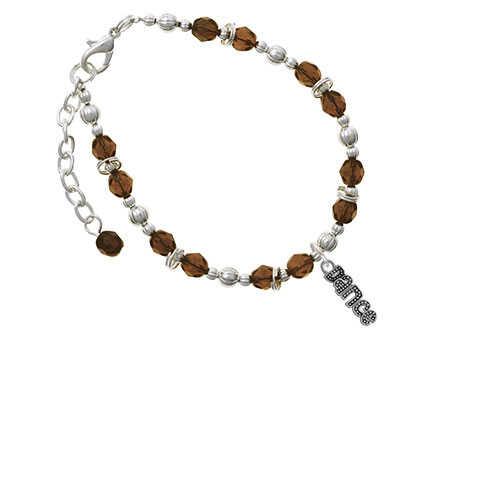 Бисером ''Dance'' коричневый браслет из бисера