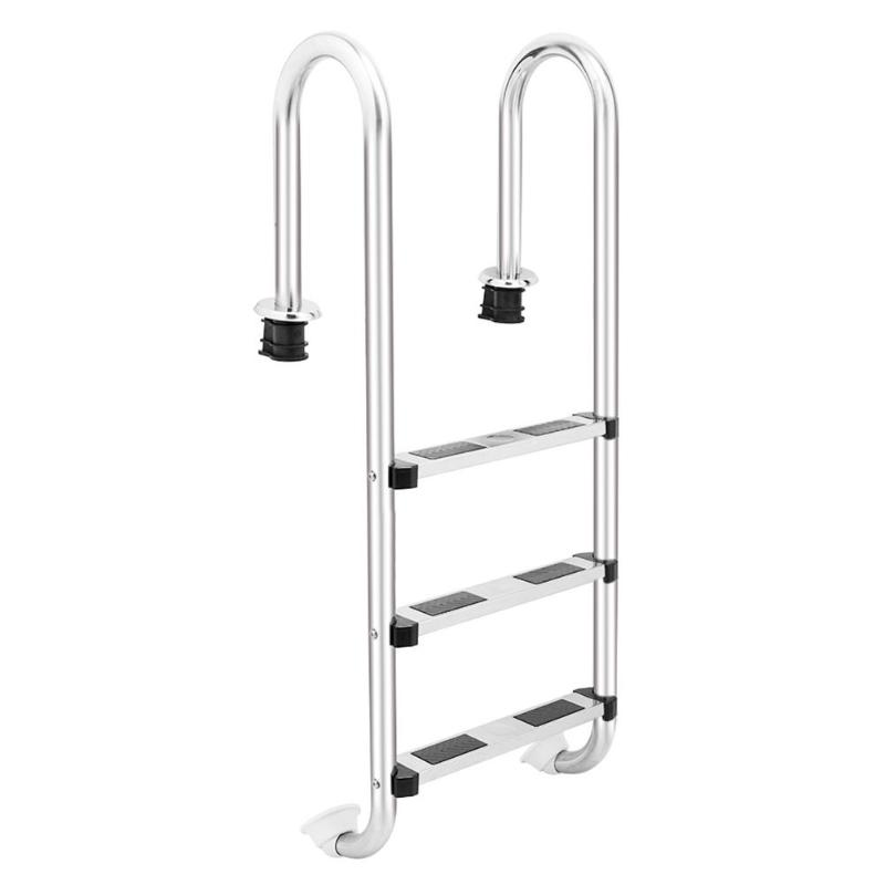 US $79.92 33% OFF|New Under Platform 132cm Height 3 Step Ladder In Ground  Swimming Pool Equipment No Slip Ladder Swimming Pool Ladder-in Parts & ...