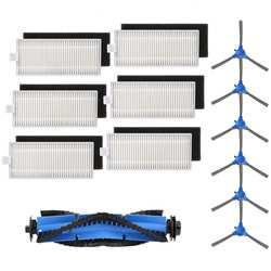 Запасные части совместимые Eufy Boost IQ Robovac 11 s Robovac 30 Robovac 30C Robovac 15C аксессуары, 6 фильтров, 6 боковая щетка
