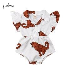 Pudcoco New Brand Newborn Baby Girl Flower Blouse Bodysuit Jumpsuit Outfit Sunsu