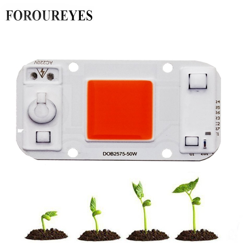 Led Plant Grow Light Driveless AC 220V 20w 30w 50w Cob Chip Full Spectrum 370nm-780nm For Indoor Plant Seedling Grow And Flower