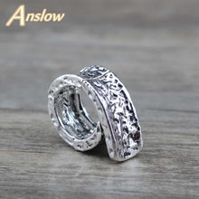Anslow 2020 Trendy New Design Big Rings For Men Adjustable 19mm Diameter Men's Rings Ancient Silver /Gold Color Gift LOW0001AR(China)