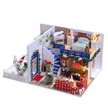 Adorable Mini Delicate Lovely Christmas Miniature Crafting DIY House Room Model Educational Toy Handmade Model Wooden Mini House