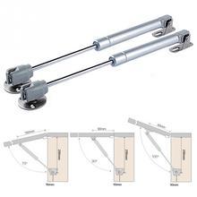 Barra de soporte hidráulica para gabinete de muebles Cierre Suave bisagra elevador hidráulico de gas presión de soporte: 40/60/80/100/120/150N #1113