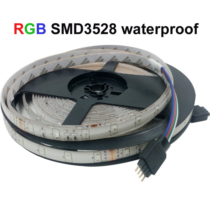 10M 600LEDS 3528 SMD RGB 2X5M LED Strip Light DC 12V Tape Ribbon Diode Flexible Waterproof 44 Key IR Remote Controller