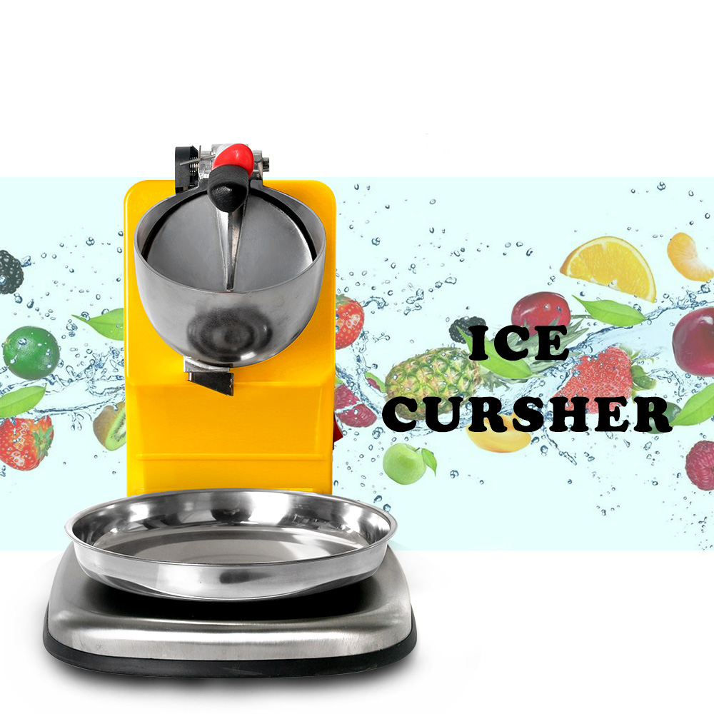 ITOP Commercial Electric Stainless Steel Ice Crusher Smoothie Shaver Cocktail Maker Ice Block Breaking Machine 250W