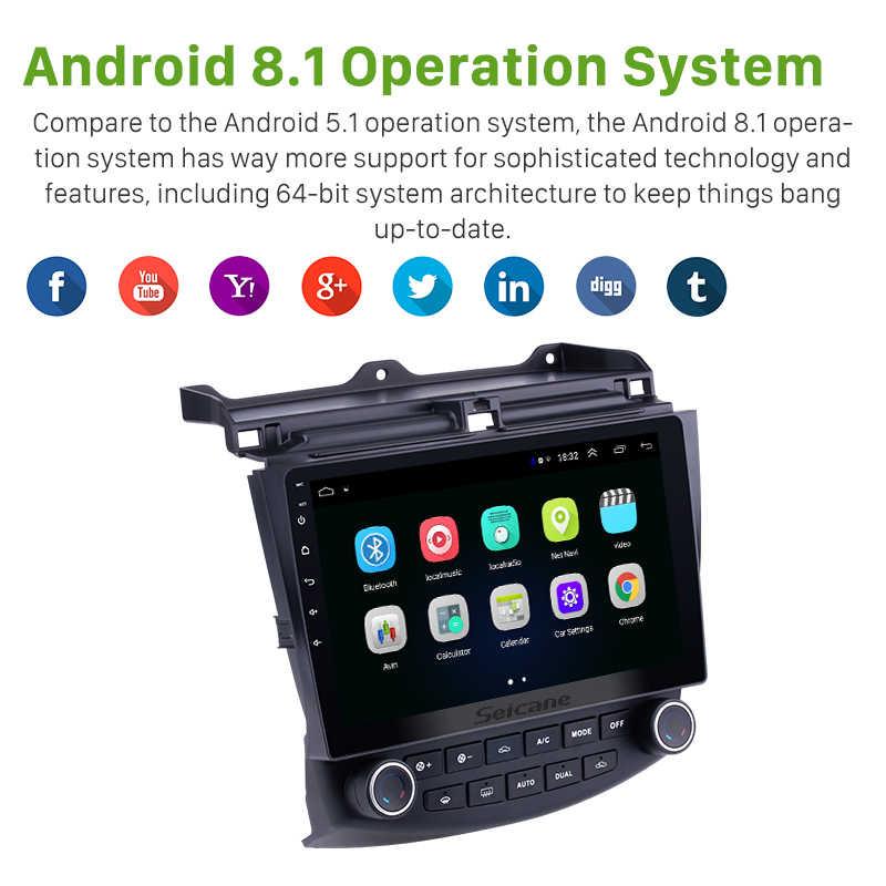 Seicane 10.1 Android 8.1 2Din Quad Core Radio samochodowe GPS odtwarzacz multimedialny jednostka główna dla Honda Accord 7 2003 2004 2005 2006 2007