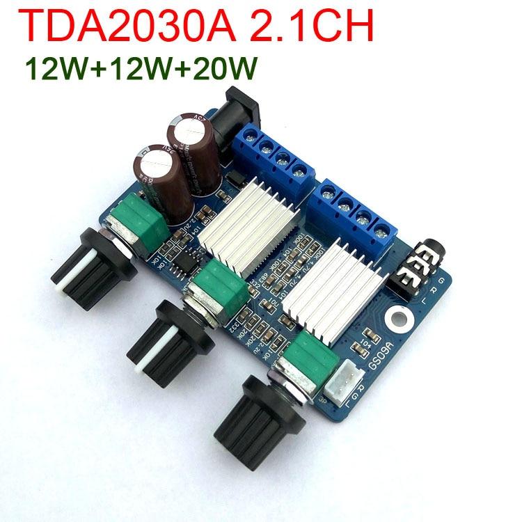 12 W Subwoofer Bass Audio Power Verstärker Bord 3 Kanal Digital Klasse D Amp FÜr 12 V Auto 2 W Ehrlich Tda2030a 2,1 Ch 20 W
