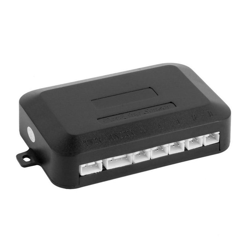 Vehemo автомобильные сигнализации черный обратный радар Авто Обратный радар 4 парковочные датчики умные регулируемые плоские датчики Автомобильный Обратный радар