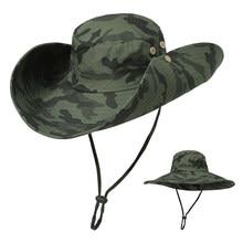 ab8325da30ac9 Outdoor Camouflage Boonie Hat Wide Brim Breathable Hunting Fishing Safari  Sun Hat Carp Fishing Tackle Pesca