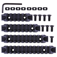 MODIKER 4Pcs 80/100/120/140mm Rail Kit FOR Jingji Nylon M-lok Rails for RIS/RAS/Rails FOR M-l-o-k /FOR M l-o-k System - Black l k neff the sea bell
