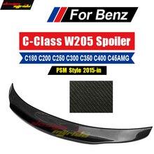 For Mercedes Benz W205 Spoiler Wing Rear Trunk AEPSM Style Carbon C Class C180 C200 C250 C300 C350 C350e Tail Rear Spoiler 2015+ недорого