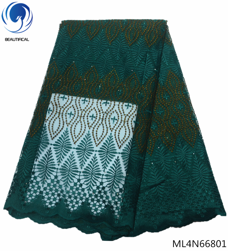 Beautifical african net lace fabircs french tulle laces fabircs with rhinestones high quality fabrics dress 5yards/lot ML4N668Beautifical african net lace fabircs french tulle laces fabircs with rhinestones high quality fabrics dress 5yards/lot ML4N668