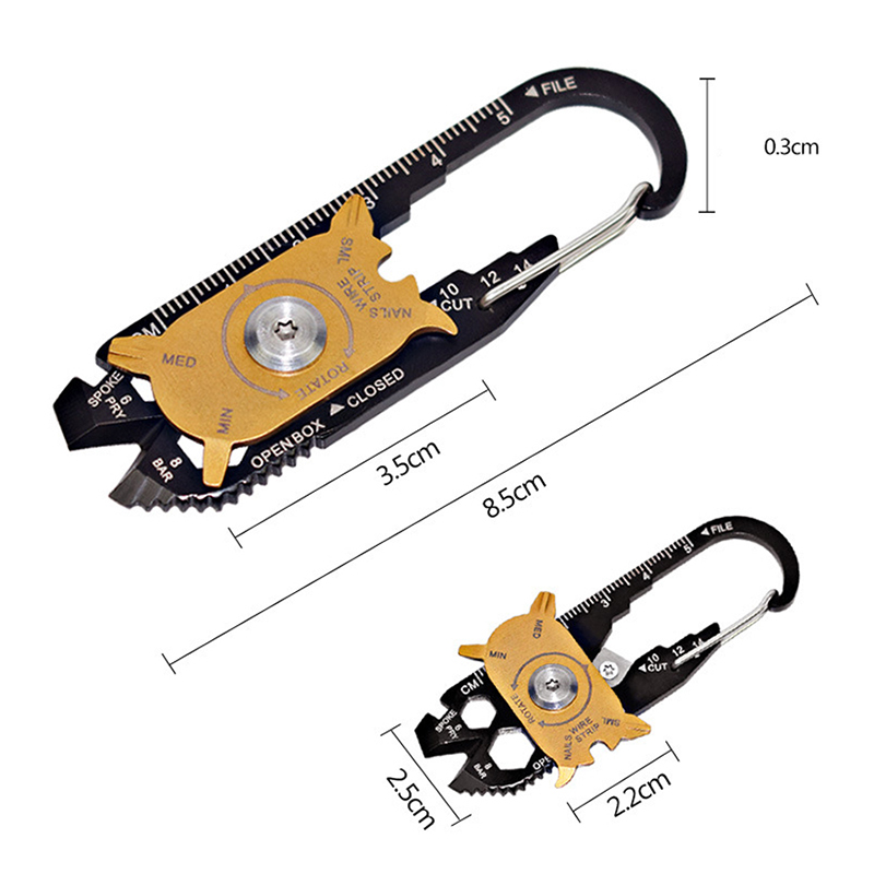 20-in-1 Multi-function Combination Tool EDC Outdoor Portable Gadget Portable EDC Portable Keychain