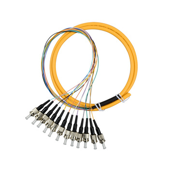 15PCS Fiber Optic 12 core Pigtail ST Single Mode Bundle Pigtail FTTH ST PC Connector Patch Cord Free Shipping factory wholesale