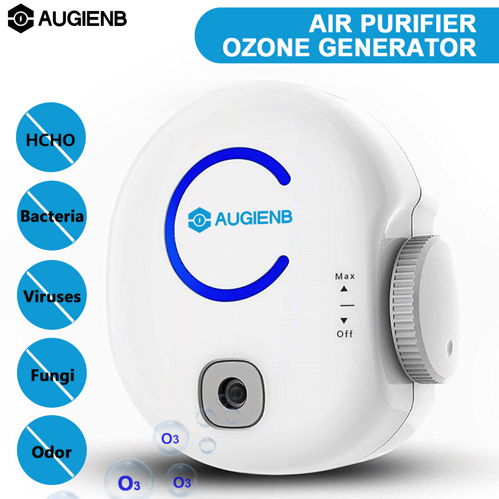 AUGIENB Portable Air Purifier Ozone Generator Odor Eliminator Plug In O3 0 50mg 100 240V Disinfector