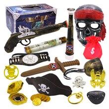Пиратская тема игрушки поставщик вечерние украшения игрушки набор нарядная игрушка коробка с сокровищами Тип B Дети возраст 3+ подарок на день рождения Детские Вечерние