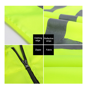 Image 2 - Reflective Safety Vest Reflective Multi Pockets Workwear Security Working Clothes Day Night Cycling Warning Safety Waistcoat