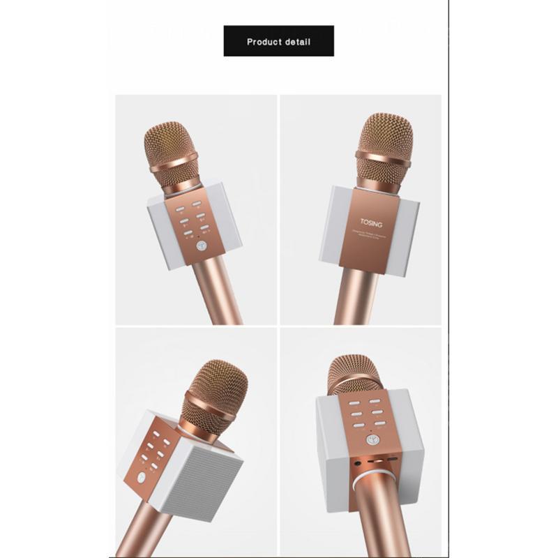 Offre spéciale Tuxun 008 Microphone karaoké sans fil Bluetooth Microphone maison polyvalent blé karaoké Microphone pour téléphone portable