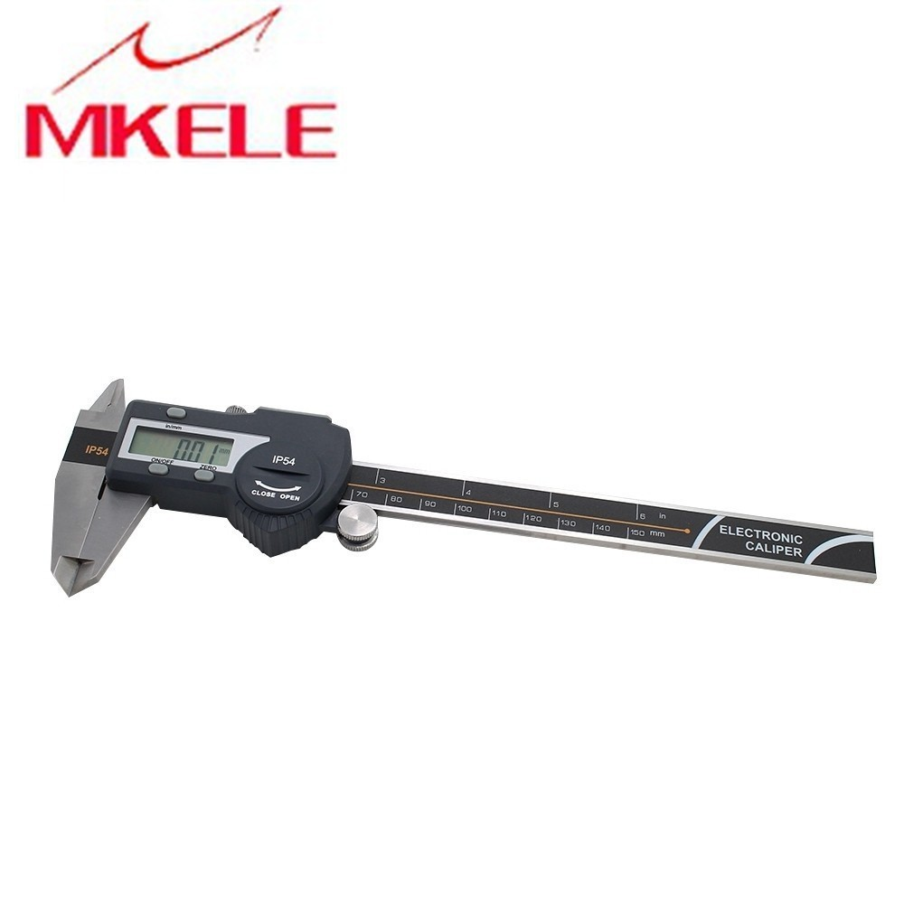 0 150mm Tube Thickness Digital Vernier Caliper r IP54 Waterproof High Accuracy Digital Micrometer Free Shipping in Calipers from Tools