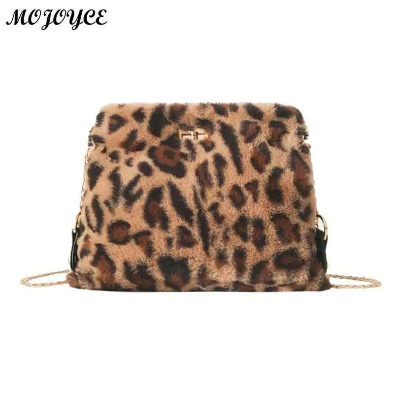 Detail Feedback Questions about Leopard Print Sling Shoulder Bag for Women  Chain Plush Crossbody Bags Fashion Female Messenger Hangbag Bolsa Feminina  on ... f6c8b21b5f54b