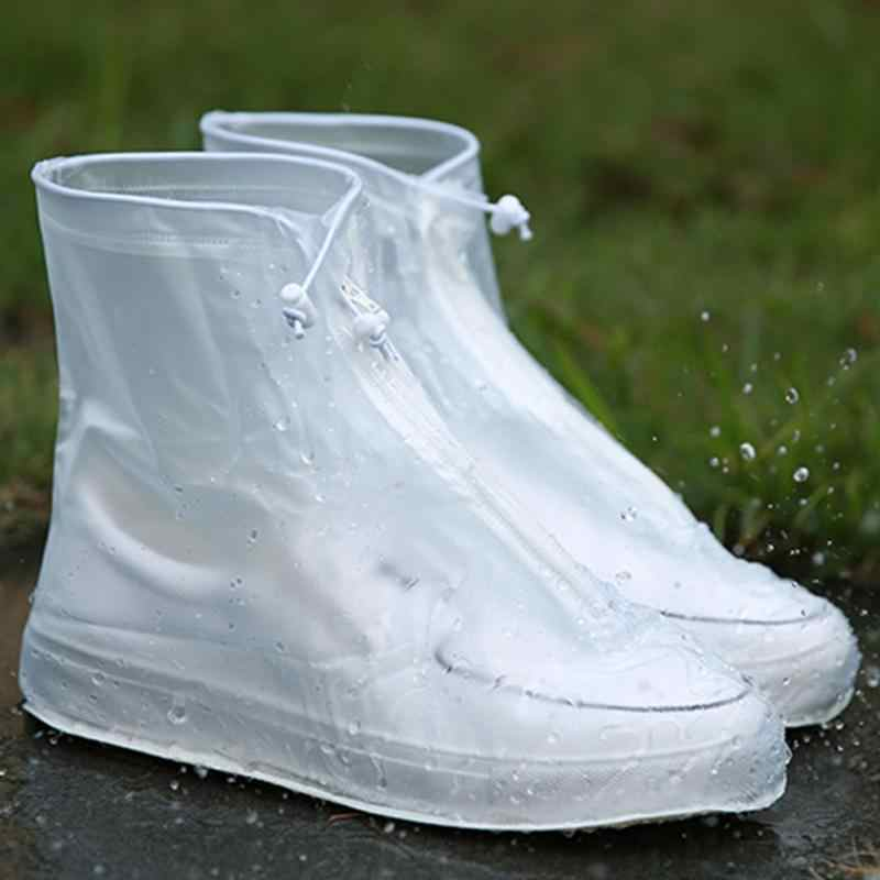 1 çift Su Geçirmez Koruyucu ayakkabı koruyucu Yüksek Kaliteli Unisex Fermuar Kullanımlık yağmur ayakkabısı kılıfları Yüksek Üst Kaymaz yağmur ayakkabıları #15