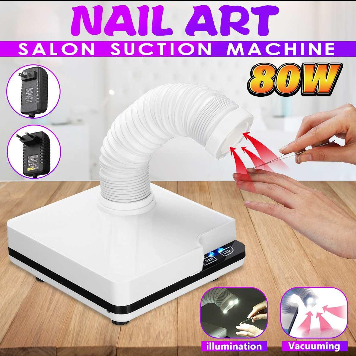 80 W Nail Aspiration dépoussiéreur pour Ongles aspirateur machine de manucure Outils Salon collecteur de poussières d'ongles Accessoires