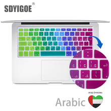 EU Arabic Ultra Thin Durable Keyboard Cover Skin Protective Sticker for MacBook Pro 13 Air 15 inch Color keyboard film EUversion