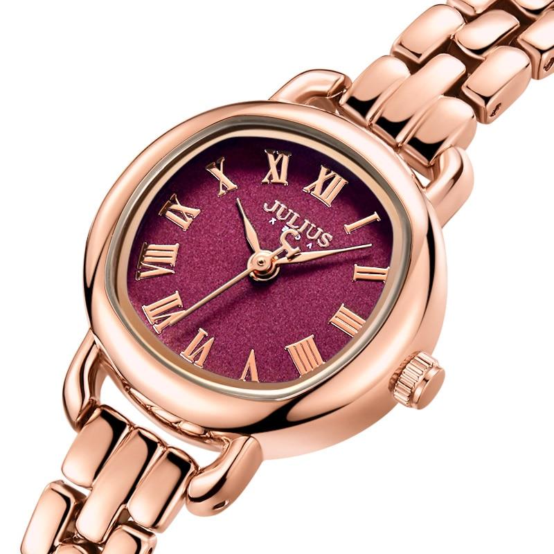 New Julius Lady Women's Watch MIYOTA Small Cute Fashion Hours Retro Bracelet Business Clock Girl's Birthday Valentine Gift Box